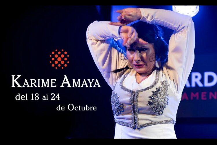 Bailaora Karime Amaya en Cardamomo en Octubre de 2021