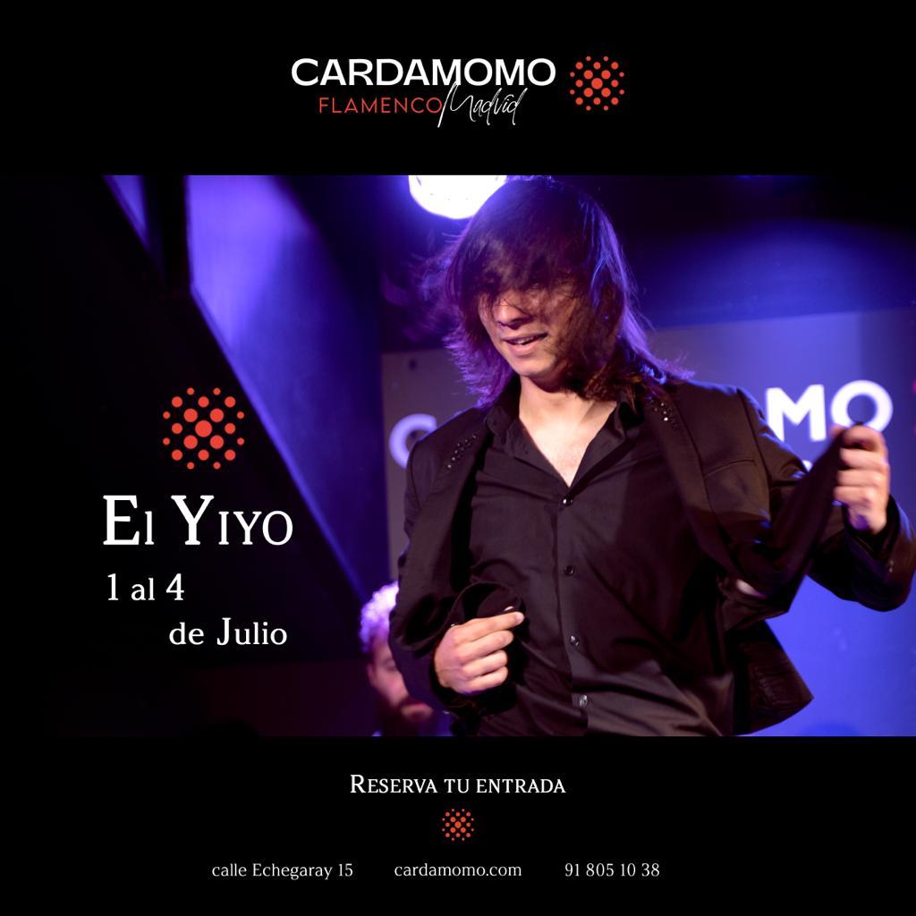 Bailaor flamenco El Yiyo en Cardamomo Madrid en Julio