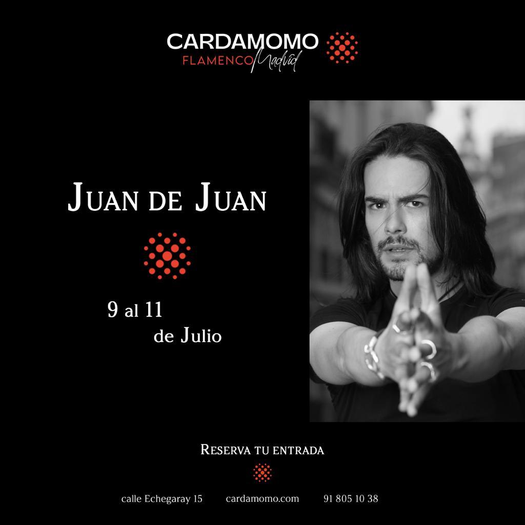 Juan de Juan en Cardamomo Tablao flamenco Madrid