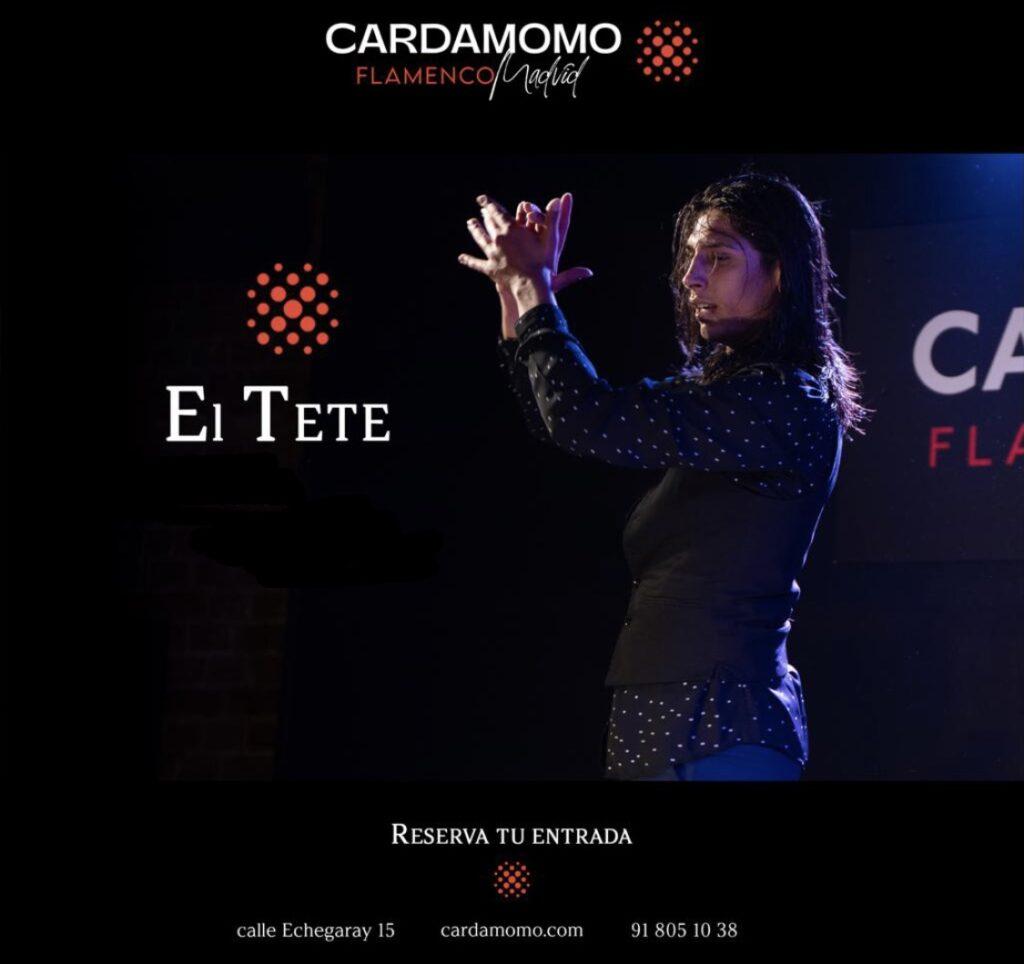 Bailaor Gitano El Tete en elTablao Cardamomo Madrid en Septiembre