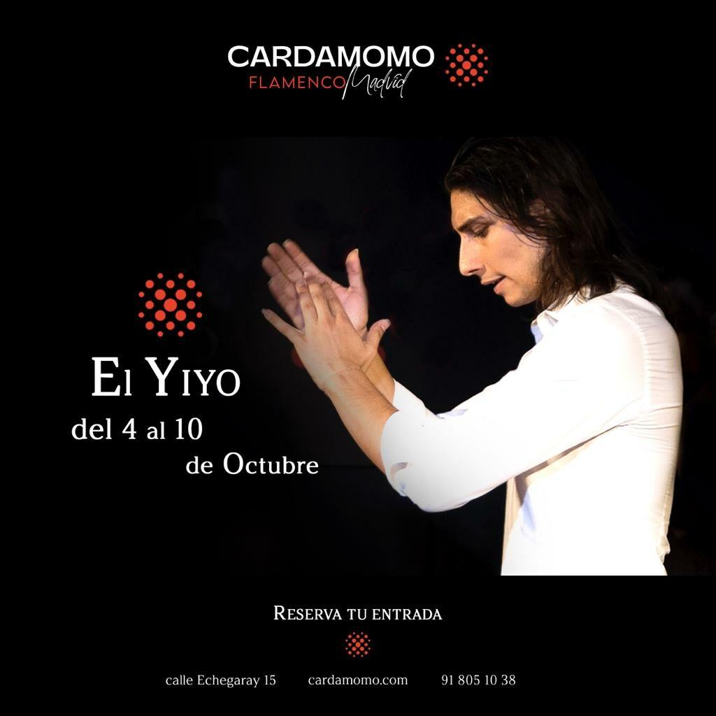 Bailaor el Yiyo en cardamomo tabla flamenco madrid