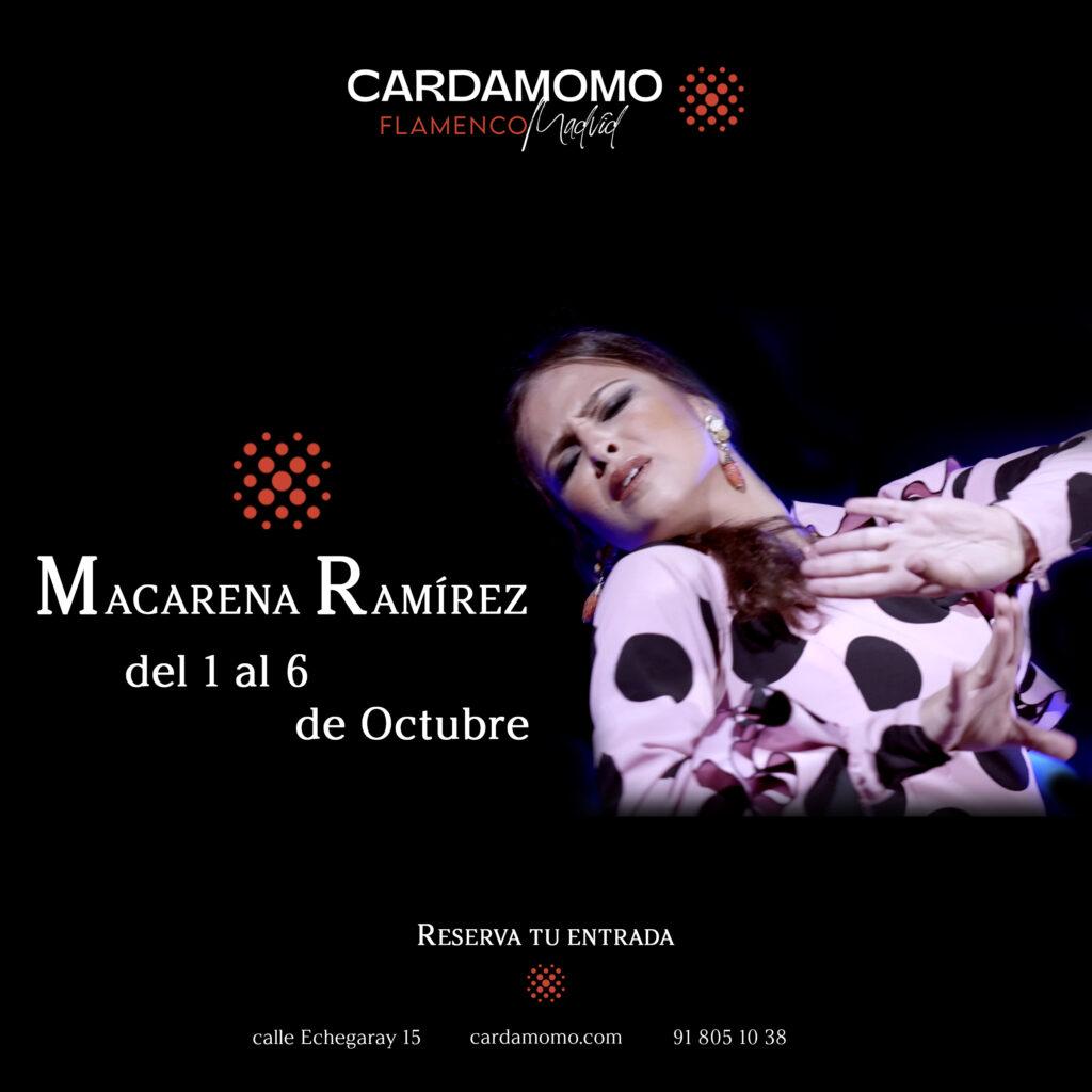 Bailaora Macarena Ramirez Ganadora Programa The Dancer en Cardamomo tablao flamenco madrid