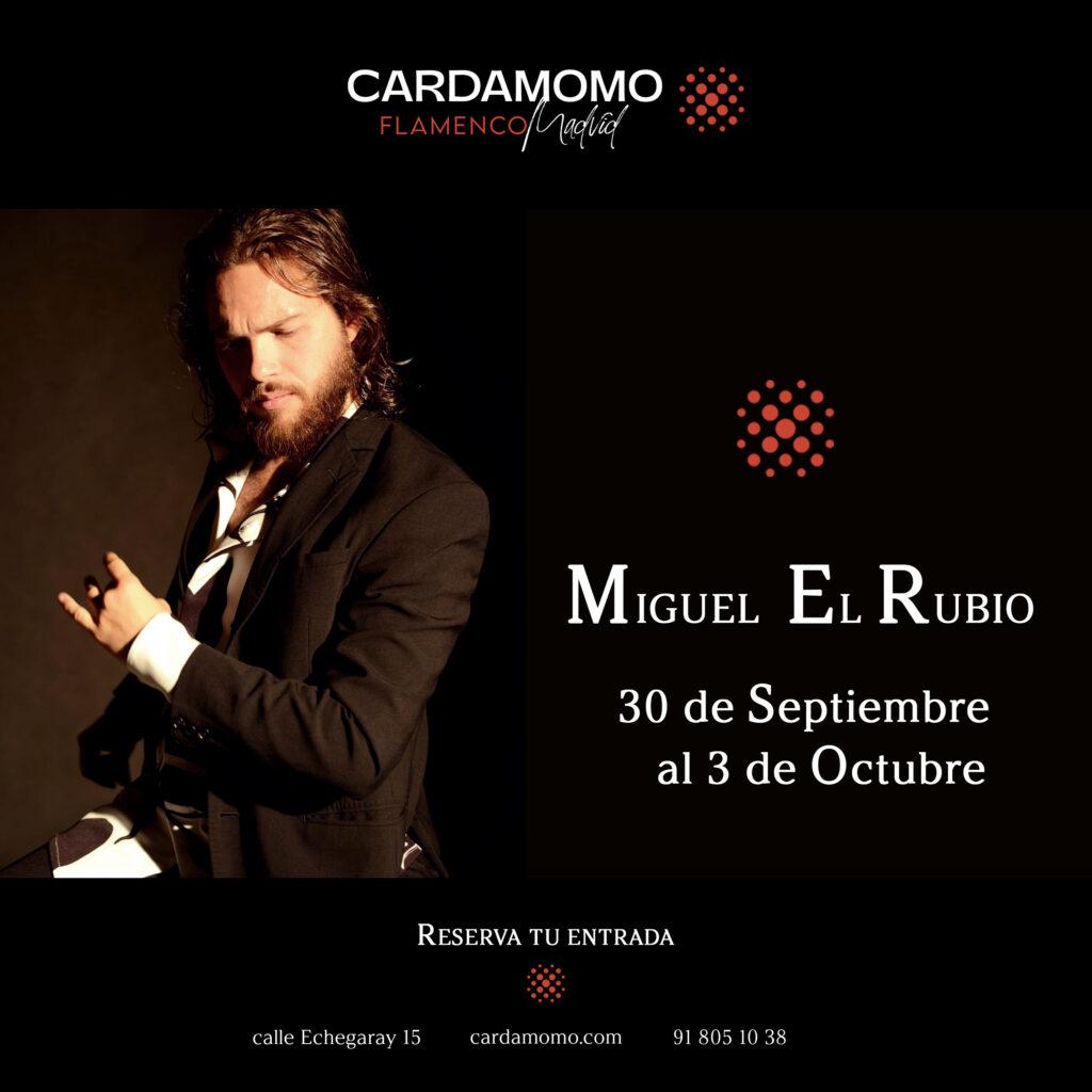Miguel El Rubio en el Tablao Flamenco Cardamomo en Madrid